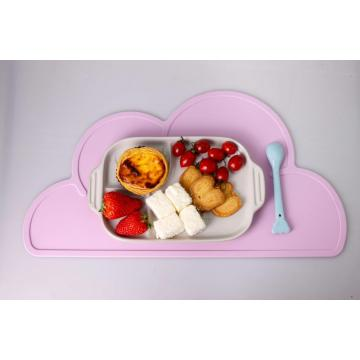 Innovative Cloud Shape Design Silicone Children Dining Mat
