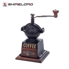 Energiesparender heißer verkaufender kommerzieller Nahrungsmittelsafe Weinlese-manuelle Kaffeebohnen-Schleifer