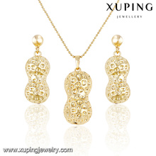 63884 Xuping latest design saudi gold jewelry Manufacturer gold jewellery sets of gourd shape