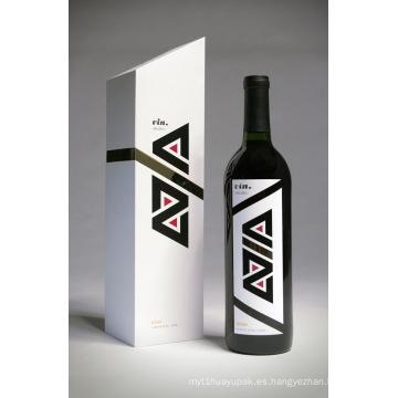 Caja de embalaje de regalo de papel de vino (SX-WN-03)