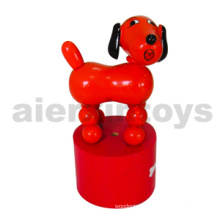 Wooden Push Dog Toy with Sound