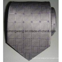 Corbata tejida de seda vendedora caliente del telar jacquar de los hombres