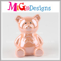 Factory Supplier Cute Bear Piggy Bank with Color Printing
