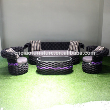 Специальная конструкция напольный материал плоского ремня диваном с журнальным столиком