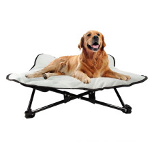 Waterproof, wear-resistant, easy-to-carry pet camping bed, flower-shaped dog bed, elevated bed