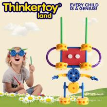 Robot Shape Plastic Building Toy pour une compétence fine sur le moteur