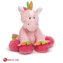 Kundengebundene Soem-Entwurfsplüschrosa musikalisches Pferd Spielzeug