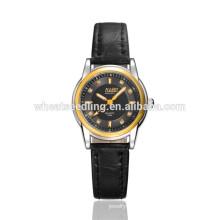 Reloj de manera elegante de las mujeres del oro 2016 del chapado en oro de la alta calidad