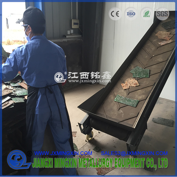 belt conveyor for transporting PCB