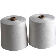 40s / 2 100% gesponnenes Polyester-Nähgarn-rohes Weiß