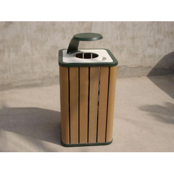2014 High Quanlity Cheap Outdoor Environment WPC Dustbin / Trash Can
