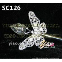 Sceptre en cristal de papillon