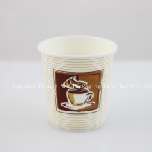 Single-Wall Paper Cup with Handle for Hot Drinking