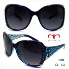 Пластиковые женские солнцезащитные очки с горный хрусталь и лазер (WSP508364)