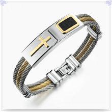 Bracelete de aço inoxidável do bracelete da forma da forma dos homens (BR192)