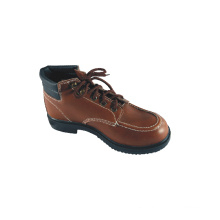 Leather Basic Style Safety Shoes