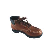 Leather Basic Style Safety Shoes