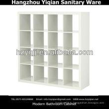 Современная домашняя мебель Высокий глянцевый белый книжный шкаф