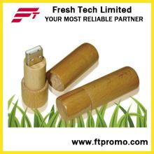 Cilindro de bambú y estilo de madera USB Flash Drive (D809)
