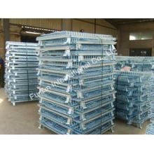 Le stockage de stockage d'entrepôt empilant la cage de roulement de fil plaquée par zinc de Lowes