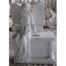 Marble Granite Angel Tombstone with Angel Monument Angel Headstone (SY-X1732)