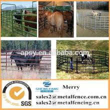 ganchos tubulares metálicos / vainas / carriles de la cerca del caballo galvanizado ganado cerca de la granja panel