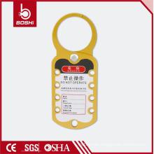 BOSHI Aluminum Safety Lockout Hasp BD-K52, Yellow