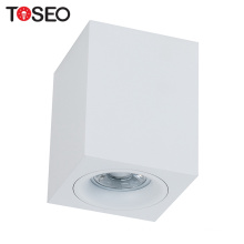 Square led cover aluminum lamp holder MR16 GU10 mounted downlight housing fixture