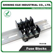 FS-013B 600V 10 amperios de 3 vías midget tipo Din de vidrio Fusible bloque de vidrio
