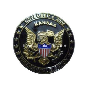 Logotipo personalizado de fábrica desafiar a moneda por mayor