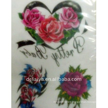 Rose temporary tattoo sticker