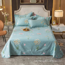 Home Decoration Cotton Full Size Bedsheet Fashion Style for Bedding Set