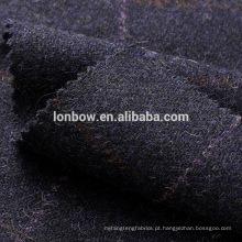 Costurado 100% lã tweed tecido para colete colete