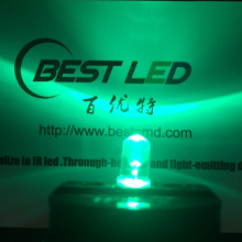 Lente da 0,2W Green 5mm LED 520nm LED Clear