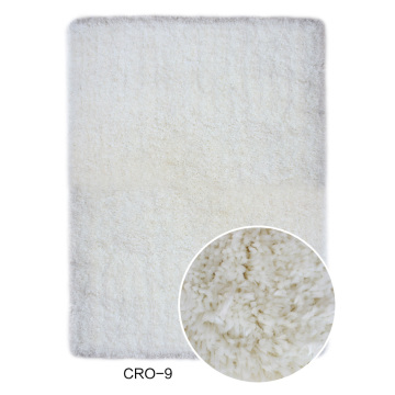 100% Polyester Microfibre Shaggy Rug couleur unie