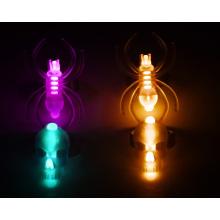 Novo conjunto de anéis de brilho com caveira e aranha para o Halloween