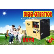 Generador diesel silencioso refrigerado por aire 5kw, 6kw en la acción ¡Venta caliente!