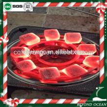 Carvão vegetal puro do tamanho 25 * 25 * 15mm do escudo do coco para o shisha