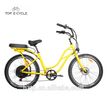 S2 26inch comfortable hot sale beach cruiser electric bicycle 2017