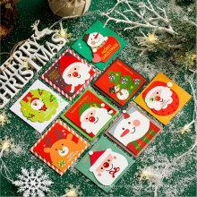 9 Deigns Per Set Chrsitmas Mini Decorating Greeting Paper Card