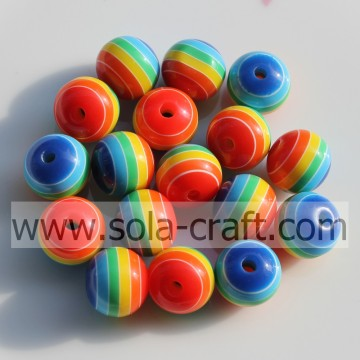 500Pcs Blue Turquoise Green Red Yellow White 10MM Solid Colorful Loose Wholesale Resin Spacer Alibaba Beads