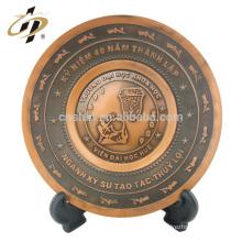 Plaques commémoratives de nom en métal de forme ovale de souvenir gravé personnalisé de haute qualité