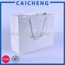 Beaux sacs en papier de coton de kraft blancs faits sur commande commerciaux