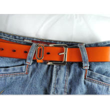 New design 3.3cm width Lady high quality genuine leather belt-KL8005