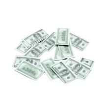 Евро Бумажным Конфетти Доллар