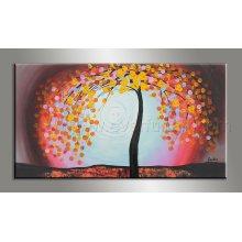 Cuchillo de paleta de acrílico pintado a mano sobre lienzo