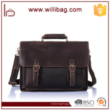Fashion Business Laptop Bag For Men Genuine Leather Briefcase