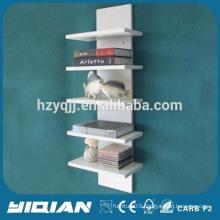 White Lacquer Mounted Euro Design Home Used Book Shelf