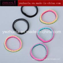 La forma redonda lazos de pelo elástico para la niña