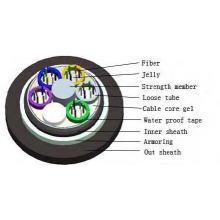 Gysty53 Câble à fibre optique à double voile pour conduit ou enterrement direct